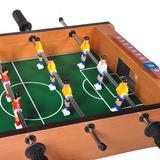 Mini Mesa Futebol Pebolim Madeira Toto 12 Jogadores E Bola