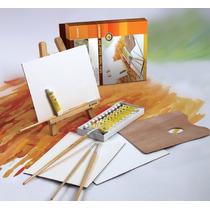 Atril Y Set De Acrilicos Artmate Ax-hj-28