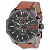 Relógio Masculino Diesel Dz4343 Q33 Couro Marrom Novo