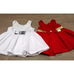 Kit Vestido Infantil Festas Natal + Ano Novo
