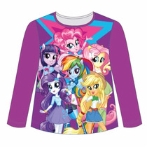 Remera Manga Larga Little Pony Equestria Girls Mundo Manias