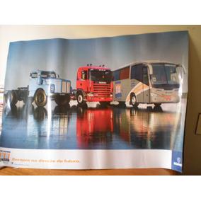 Poster Scania 3 Modelos 70x99 Cm