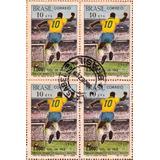 1969 - C-658 Quadra Selos Milésimo Gol De Pelé Carimbo Ag.