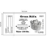 Talonario Rifa / 1.000 Numeros / 10,5 X 5,5cm / B/n