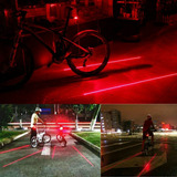 Luz Led Posterior Para Bicicleta Y/o Motocicleta