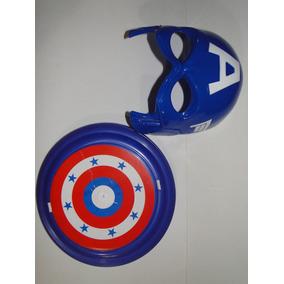 Fantasia Vingador Capitão America Mascara E Escudo Avenger