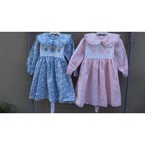 Vestidos De Viyela Estampada Para Niñas- En Talle 1- 2 -3