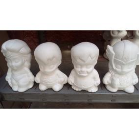 Alcancias De Yeso Ceramico Super Heroes Recuerdos Infantiles