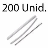200 Peças Protetor De Emenda Fibra Óptica Tubete 45mm X3,5mm