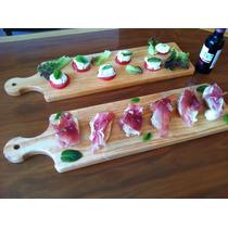 Tabla Plato Madera Pino Degustación Carnes Quesos Sushi