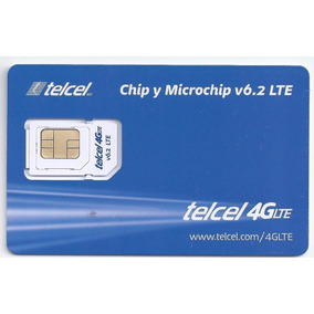 Lote 50 Chips Telcel 4g Lte Virgen Nano Micro V6.2 Region 7