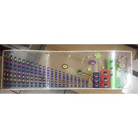 12v Adesivo Equalizador Gráfico De Leds Com Sensor Ritmico