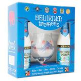 Kit Cerveja Belga Delirium Com 2 Garrafas + 1 Copo