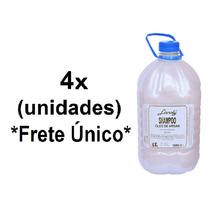 4 Unidades Shampoo Óleo De Argan Lánoly Galão 5 Litros