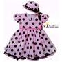 Vestido De Festa Infantil Poa - Com Chapeuzinho