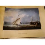 Lamina Impresa De Barco Antiguo Leith Harbour