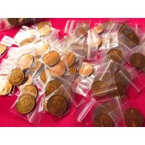 Moneda 20 Centavos Cabeza Olmeca Y 1 Centavo Espiga