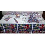 Decoración Fiesta Infantil - Súper Mario (10 Artículos)