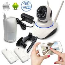 Kit Seguridad Wifi Cámara 720p Audio Movimiento + Alarma App