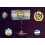 Antiguos Pins Publicidad Argentina Bandera Escarapela Escudo