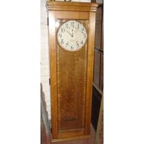 Reloj De Ferrocarril En Caja De Roble Eslavonia. Art 5027