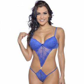 Body C/ Bijoux Frontal Triangular Em Renda Sensual- Promoção