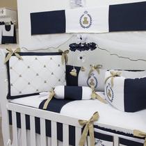Kit Berço Menino Príncipe Urso Teddy 10 Pçs Ibit Baby