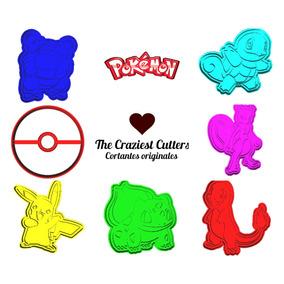 Cortante Pokemon 3d - Galletitas, Porcelana Fría, Plastilina