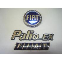 Kit Emblemas Fiat Palio Ex + Mala Fiat + Capo Azul 98 A 00