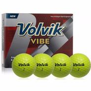 Pelotas Golf Volvik Vibe, 12 Pz. Color Amarillo.