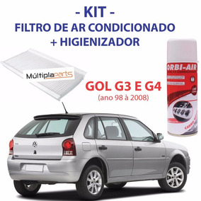 Kit Gol G3 G4 Filtro De Ar Condicionado + Spray Higienizador