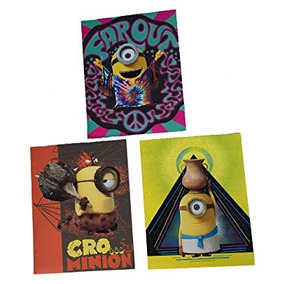 Juguete Despreciable Yo Minions 3 Carpetas De Bolsillo Del