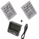 Kit 2 Bateria En-el5 + Carregador Nikon P500 510 520 P530