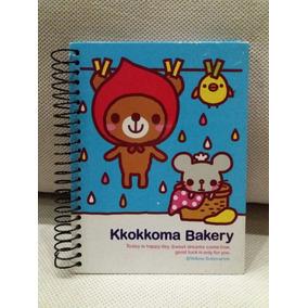 Caderno Fofo C/ Pauta Importado Coreano Ursinho