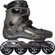 Rollers Seba Fr1 Black Grey Orange Freeskate Liquido Ultimos