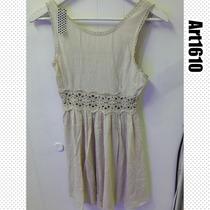 Vestido De Bambula Con Detalle De Macrame