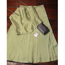 Vestido/ Conjunto David Bridal Verde Claro Con Bordado