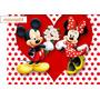 Painel Minnie Vermelha Tela Lona Decoração 150x100 Cm