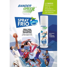 Spray Frío Mentolado Bander Green Para Golpes Ideal Deportes