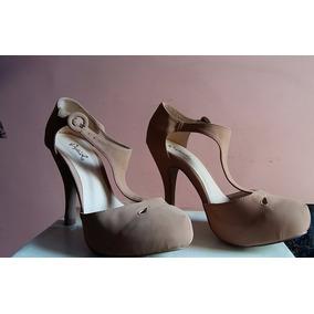 Zapatos Pumps Nude Importados De Usa Nuevos N 37 Plataforma