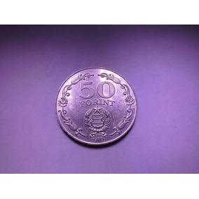 Moeda Hungria 50 Forint 1970 Prata