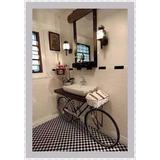 Mueble Para Bano Moderno Vintage Retro Incluye Lavamanos