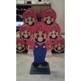 Adorno De Torta + 20 Golosineros De Super Mario Bros