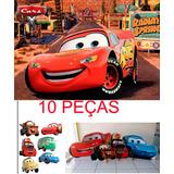 10 Display Carros Disney Novo + Painel 1,50x1 Metro