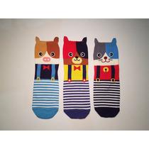 Calcetines Con Diseño - Animalitos Con Overol (3 Pares)
