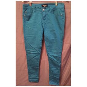 Pantalón De Jean Forever 21 Color Turquesa Talle L