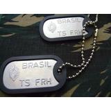 Plaqueta Identificação Modelo Exército Metal Soldado 40% Off