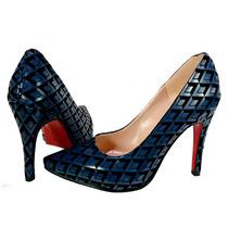 Stilettos Padrísimias Zapatillas Rivera Color Azul Marino