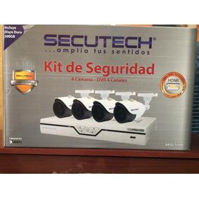 Kit De Seguridad Secutech, 4 Camaras, Hdmi, Dd 500 Gb
