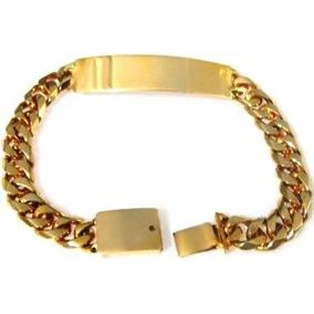 Gruesa Esclava Barbada Cubana Oro Macizo 14k 40gr Solid Gold